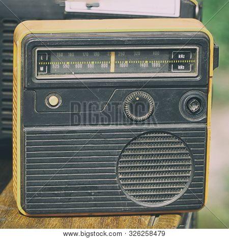 Old Transistor Radio. Old Compact Transistor Receiver