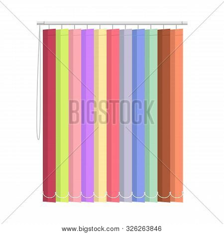 Isolated Object Of Blinds And Wooden Logo. Graphic Of Blinds And Casement Stock Symbol For Web.