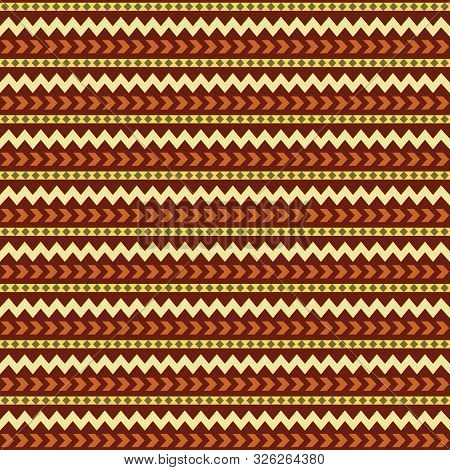 Tribal Ethnic Vector Patchwork Texture. Indian Batik. African Seamless With Adinkra Symbols. America