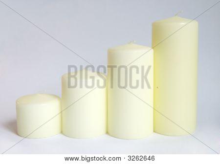 Cream Candles