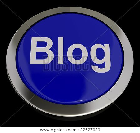 Blog Button In Blue For Blogger Or Blogging Website