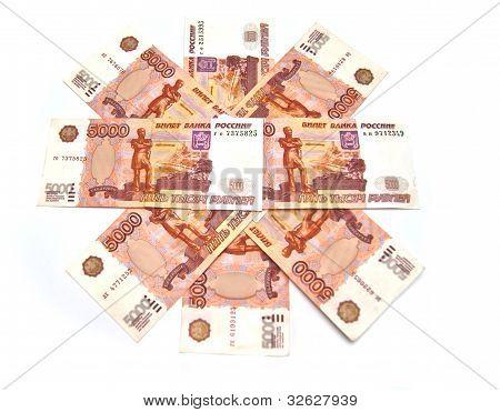 Many Russian Banknotes