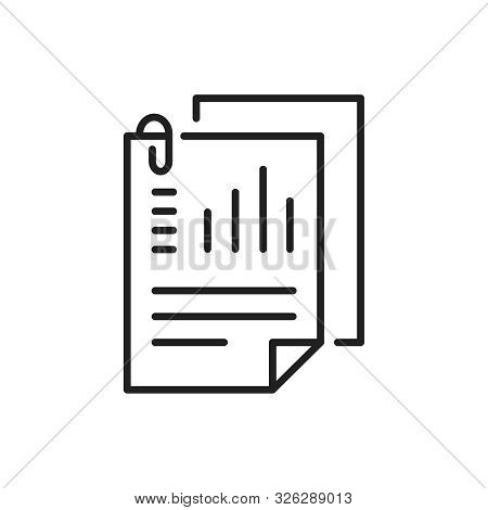Document Like Auditing. Scrutiny, Annual Verification, Info. Flat Style Quality Sign Or Success Prov