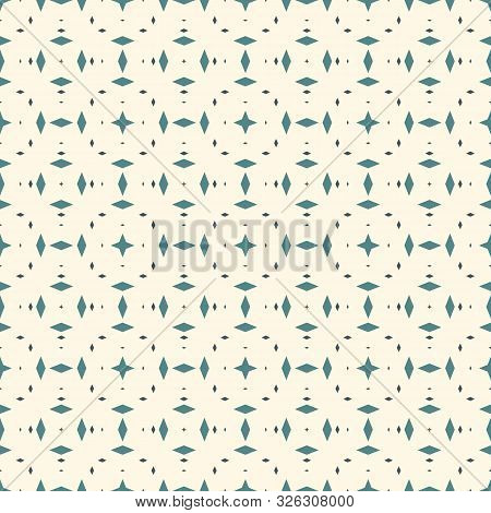Seamless Pattern With Kaleidoscope Ornament. Mini Diamonds Motif. Repeated Rhombuses Abstract Backgr