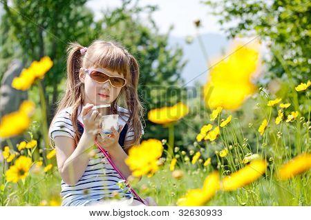 Girl Eating Icecream