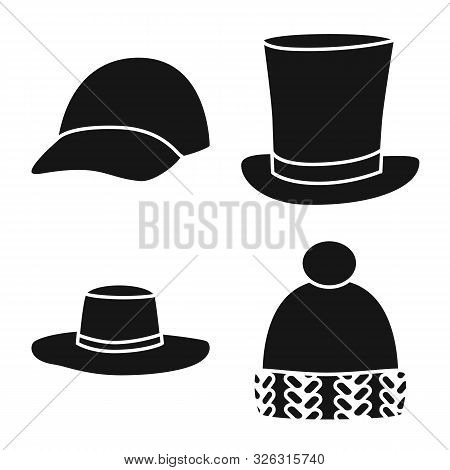 Vector Design Of Beanie And Beret Icon. Collection Of Beanie And Napper Stock Symbol For Web.
