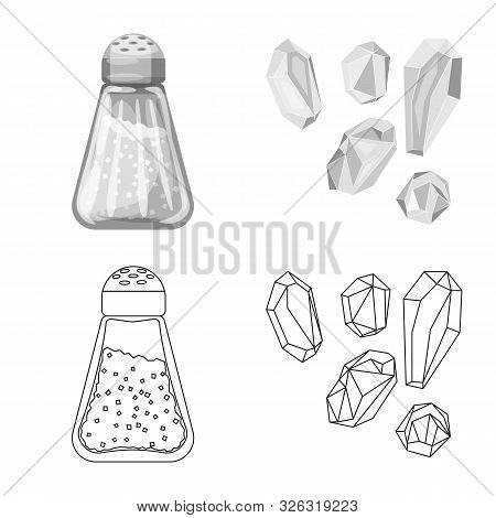 Vector Illustration Of Cooking And Sea Sign. Collection Of Cooking And Baking Vector Icon For Stock.