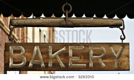 Wooden Bakery Sign