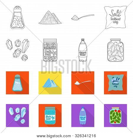 Vector Illustration Of Cooking And Sea Logo. Collection Of Cooking And Baking Stock Symbol For Web.