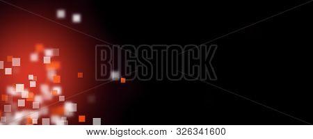 Futuristic Abstract Square Panorama Background Design Illustration
