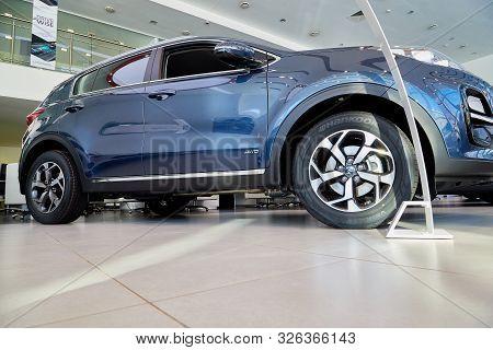 Kirov, Russia - March 07, 2019: Car In Showroom Of Dealership Kia In Kirov In 2019