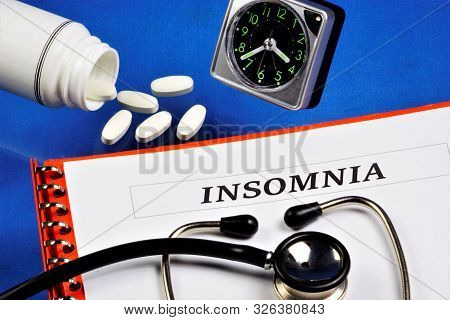 Insomnia Is A Sleep Disorder.insufficient Length And Quality Of Sleep For A Significant Period Of Ti