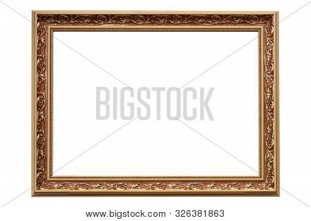 Template For Your Project - Luxury Golden Classic Painting Frame Isolated On A White Background (hig