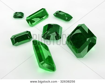 Seven Green Emeralds