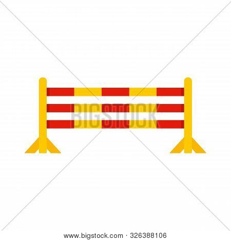 Horse Jump Obstacle Icon. Flat Illustration Of Horse Jump Obstacle Vector Icon For Web Design