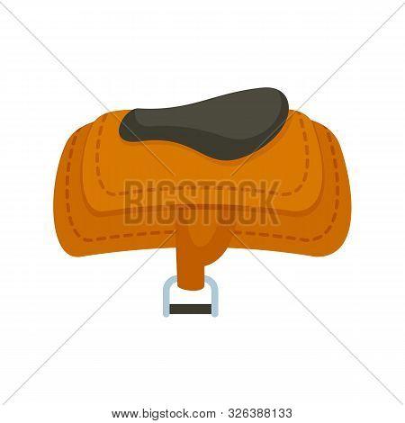 Horse Riding Saddle Icon. Flat Illustration Of Horse Riding Saddle Vector Icon For Web Design