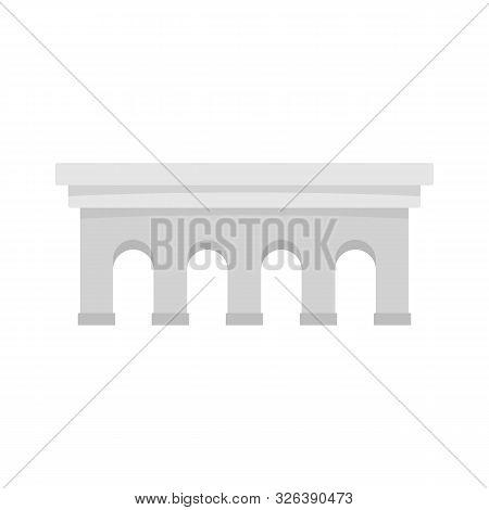 Beton Bridge Icon. Flat Illustration Of Beton Bridge Vector Icon For Web Design
