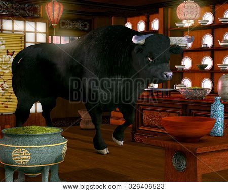 Like A Bull In A China Shop, One Who Is Aggressive And Clumsy In A Situation That Requires Delicacy