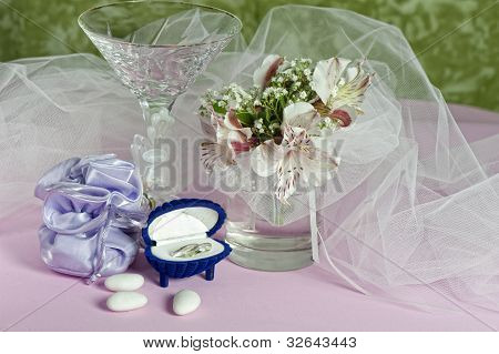 Arrangement With Flowers And Candy Boxes