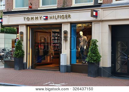 Amsterdam, Netherlands - July 10, 2017: Tommy Hilfiger Shop At P.c. Hooftstraat In Amsterdam. Pieter