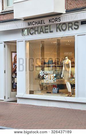 Amsterdam, Netherlands - July 10, 2017: Michael Kors Fashion Shop At P.c. Hooftstraat In Amsterdam.