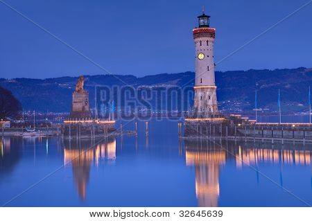 In the port of Lindau at Lake Constance - Germany
