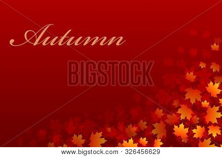 Vector Background For Design On A Theme Of Autumn. Eps10