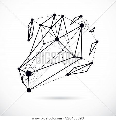 Abstract Vector Background, Isometric Dimensional Shape. Innovation Technologies Abstract Illustrati