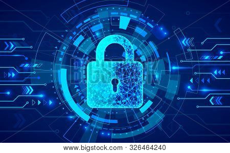 Internet Security. Firewall Or Other Software Or Network Security. Cyber Data Defense Or Information