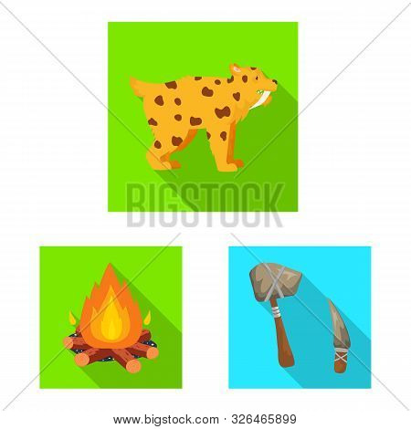 Vector Design Of Evolution And Neolithic Symbol. Set Of Evolution And Primeval Stock Vector Illustra