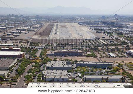 Jet Landing At International Airport