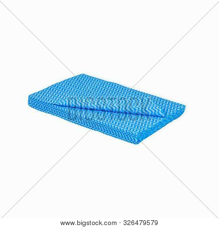 Blue Zig-zag Cleaning Cloth Absorbant Many Folded Wiping Hygiene Dosmetic Soft