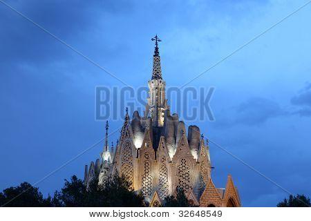 Sanctuary of Montserrat in Montferri Tarragona province Catalonia Spain. By famous modernist architect Josep Maria Jujol poster