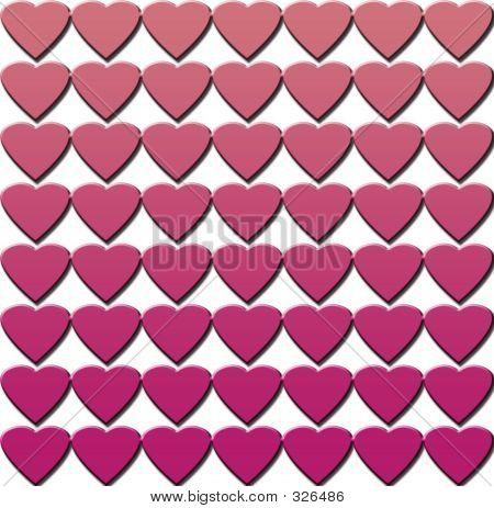 Illustrated Hearts Background-Pinks