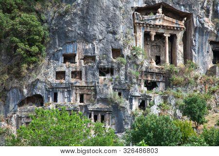 Lycian tombs in Fethiye, Turkey