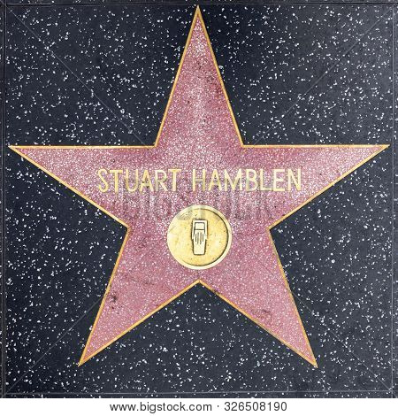 Los Angeles, Usa - March 5, 2019: Closeup Of Star On The Hollywood Walk Of Fame For Stuart Hamblen.