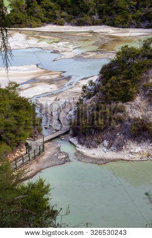 View Of Geo Thermal Park Waiotapu, New Zealand