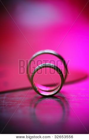 Beautiful Union Of Wedding Golden Rings