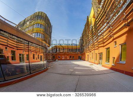 Vienna, Austria - Feb 18, 2019: Wu (wirtschaftsuniversität Wien ) University Of Economics And Busine