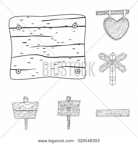 Isolated Object Of Hardwood And Material Logo. Set Of Hardwood And Wood Stock Vector Illustration.