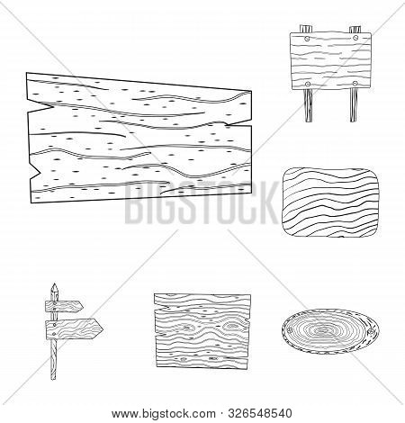 Isolated Object Of Hardwood And Material Icon. Set Of Hardwood And Wood Stock Symbol For Web.