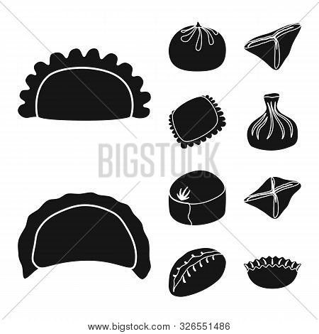 Vector Design Of Cuisine And Appetizer Sign. Collection Of Cuisine And Food Vector Icon For Stock.