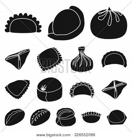 Vector Illustration Of Cuisine And Appetizer Symbol. Collection Of Cuisine And Food Stock Vector Ill