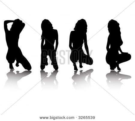 Silhouettes Of Girls