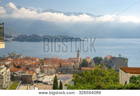 View Of The Old Town Of Budva In Montenegro