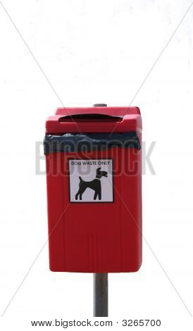 Dog Litter Bin On Short Post