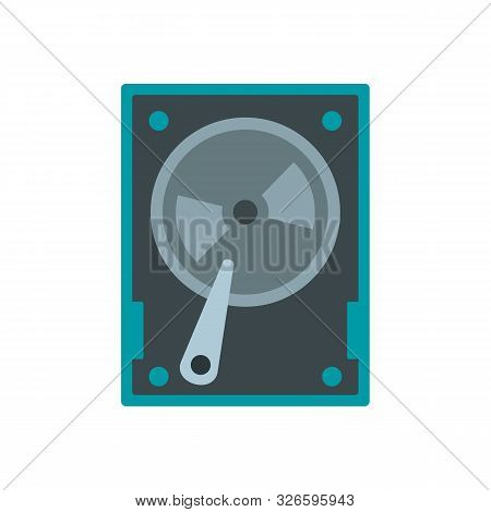 Magnetic Hard Disk Icon. Flat Illustration Of Magnetic Hard Disk Vector Icon For Web Design