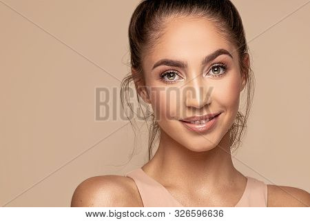 Natural Beauty Girl Portrait.