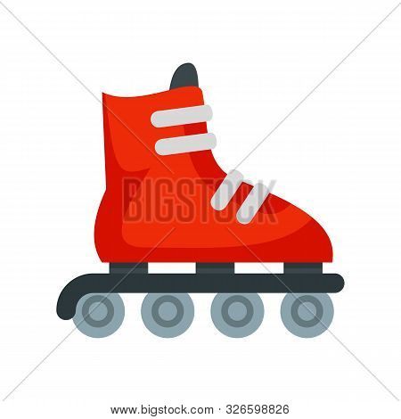 Inline Skates Icon. Flat Illustration Of Inline Skates Vector Icon For Web Design