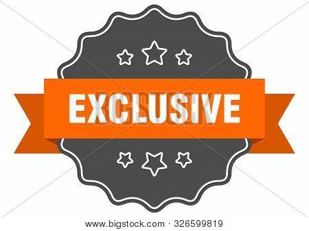 Exclusive Isolated Seal. Exclusive Orange Label. Exclusive
